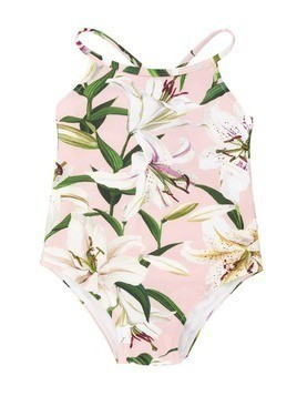 Dolce & Gabbana Kids Lilly print swimsuit - PINK