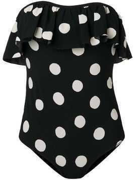 Love Stories polka dot strapless swimsuit - Black