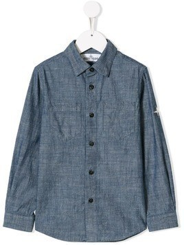 Stone Island Junior denim shirt - Blue