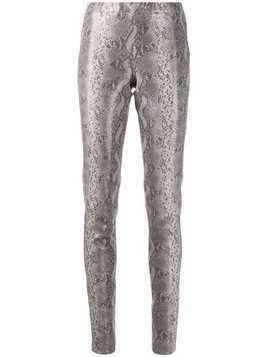 Arma snakeskin effect skinny trousers - Grey