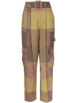 Rosie Assoulin patchwork check cargo trousers - Multicolour