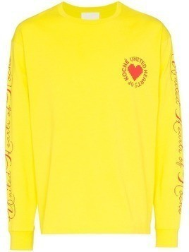 Koché United Heart long-sleeve top - Yellow