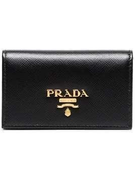 Prada black small logo leather wallet