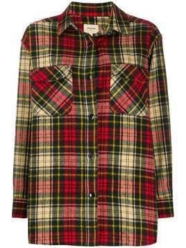 Bellerose checked flannel shirt - Red