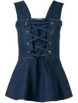 See By Chloé lace-up front blouse - Blue