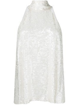 Galvan sash evening dress - Neutrals