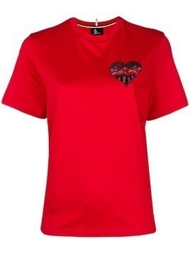 Moncler Grenoble heart mountain T-shirt - Red