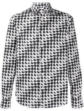 Marni smile-print long-sleeve shirt - White