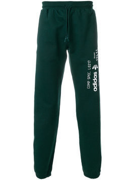 Adidas Originals By Alexander Wang - graphic print track pants - unisex - Cotton - L - Green
