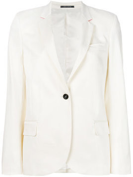 Ps By Paul Smith - single breasted blazer - Damen - Cotton/Spandex/Elastane/Viscose - 38 - White