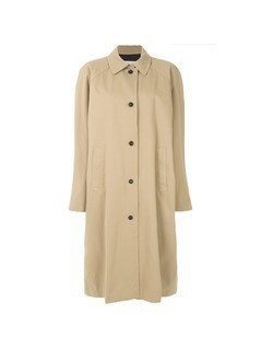 Push Button oversized trench coat - Nude&Neutrals
