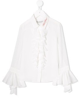 Philosophy Di Lorenzo Serafini Kids ruffled neck blouse - White