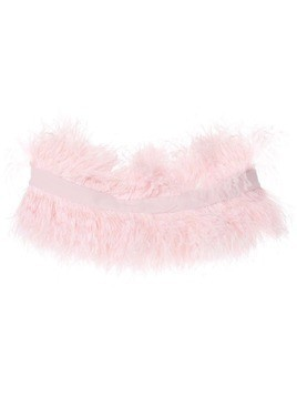 Isabel Sanchis feather plume shrug - Pink