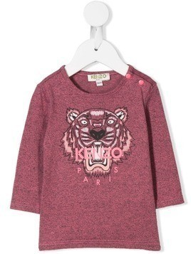 Kenzo Kids embroidered tiger T-shirt - PINK