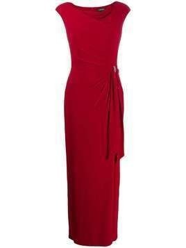 Lauren Ralph Lauren fitted draped dress - Red