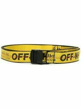 Off-White logo-print Industrial belt - Yellow