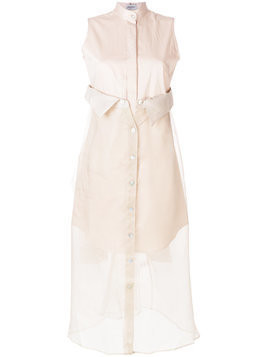 Balossa White Shirt layered shirt dress - Neutrals