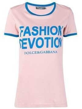 Dolce & Gabbana Fashion Devotion T-shirt - Pink & Purple