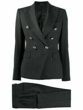 Tagliatore double-breasted trouser suit - Grey