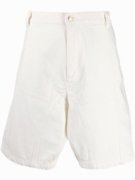 GmbH wide panel shorts - White