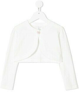 Charabia decorative-button cotton cardigan - White