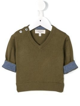 Cashmirino V-neck jumper - Green