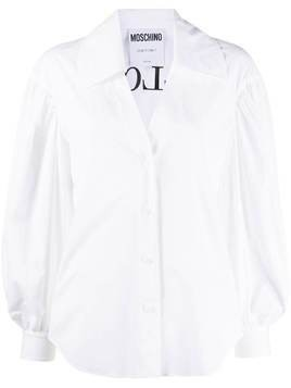Moschino Bullchic! puff sleeve shirt - White
