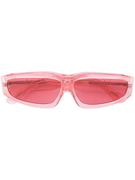 Marques'Almeida square tinted sunglasses - PINK