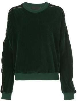 Haider Ackermann velvet striped sweater - Green