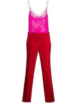 Philosophy Di Lorenzo Serafini lace embellished jumpsuit - Red
