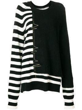 Haider Ackermann striped-detail sweater - Black
