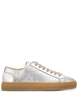 Doucal's Kobe crackled effect sneakers - Silver