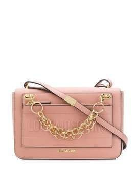 Love Moschino logo chain-detail shoulder bag - PINK