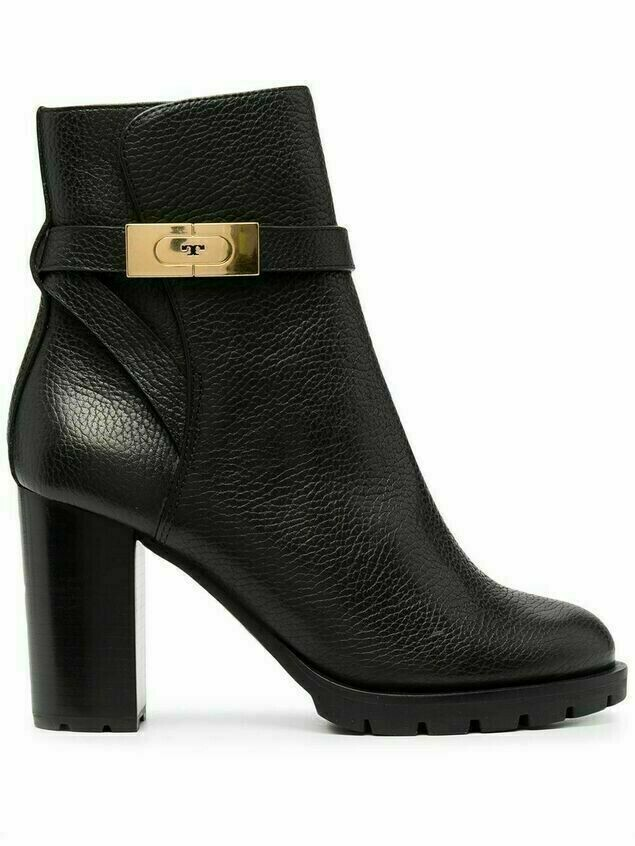 Tory Burch mid-heel leather ankle boots - Black