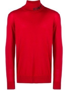 Gcds turtle neck sweater - Red