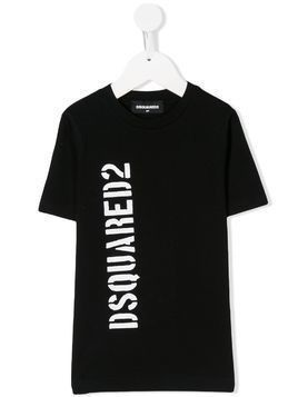 Dsquared2 Kids logo print T-shirt - Black