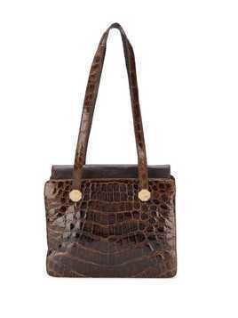 A.N.G.E.L.O. Vintage Cult 1970's varnished shoulder bag - Brown
