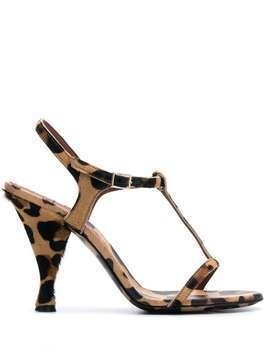 L'Autre Chose leopard-print 105mm sandals - Black