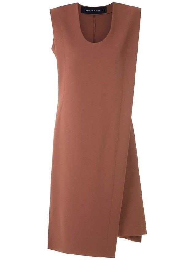Gloria Coelho asymmetric dress - Brown