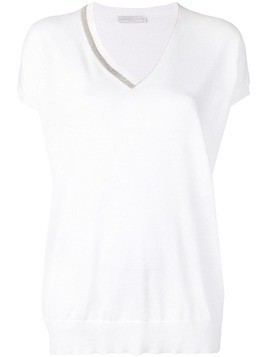 Fabiana Filippi shortsleeved jumper - White