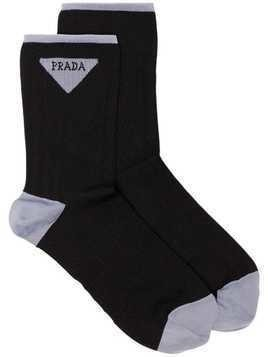 Prada logo socks - Black