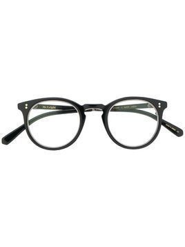 Garrett Leight Runyon C round-frame glasses - Black