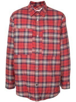Fear Of God plaid shirt jacket - Red