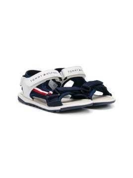 Tommy Hilfiger Junior touch strap flat sandals - Blue