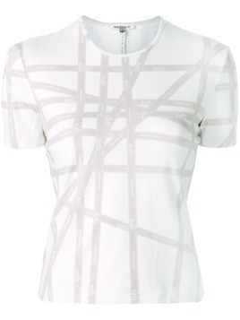Hermès Pre-Owned ribbon print T-shirt - White