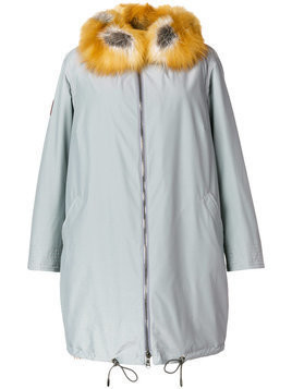 Gianfranco Ferré fur trim coat - Grey