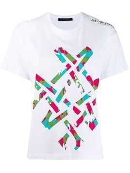 Mr & Mrs Italy camouflage print T-shirt - White