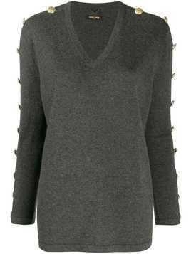 Max & Moi buttoned sleeves jumper - Grey