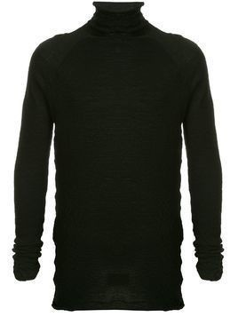 Forme D'expression high neck knit sweater - Black