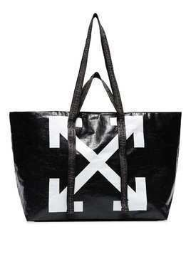 Off-White Commercial arrow logo tote - Black